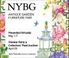 NYBG-New York Botanical Garden-Antique Garden Furniture Fair-Show: May 1-7; Auction: April 29